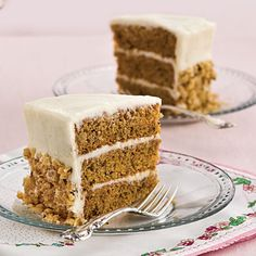 "Mama Dip's Carrot Cake | This recipe from Chapel Hill, North Carolina, restaurateur Mildred ""Mama Dip"" Council is one of the best carrot cakes we've tested. The cake layers can be made ahead and frozen up to one month."