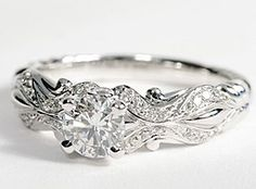 eiros™ Tendril Diamond Engagement Ring in 14k White Gold
