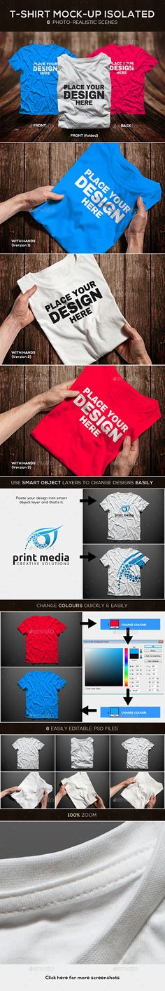T-shirt Mock-up Isolated Male PSD