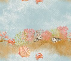 bariere_de_corail fabric by nadja_petremand on Spoonflower - custom fabric