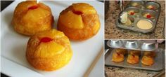 Pineapple Upside Down Cupcakes Collage