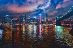 Manhattan by Jesus Martin Mirelis Travel Around The World, All Over The World, Around The Worlds, Night Lights, City Lights, Cityscapes, City Life, Beautiful Landscapes, Manhattan