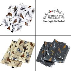 Western Horse & Horse Shoe Printed Scarf *Choice of Color #CowgirlFashion Only $7.75 + Shipping !!