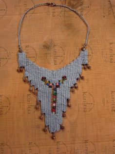 micro weaving necklace