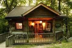 One of the six renovated 19th century log cabins at Inn & Spa at Cedar Falls - Logan, OH