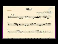 Roar - Katy Perry - Trombone Sheet Music, Chords, and Vocals