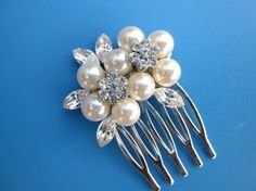 Bridal pearl hair comb bridal hair accessories  by ChantalEveleen, $29.00