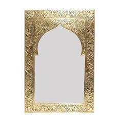 Marokkanischer Orientalischer Messing goldener Spiegel Handarbeit -Kasim- H37
