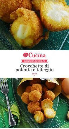 Party Finger Foods, Snacks Für Party, Gnocchi, Italian Finger Foods, Polenta Recipes, Taleggio, Good Food, Yummy Food, Recipe Mix