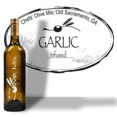 """Yum yum yum! Makes regular olive oil just look ridiculous."" ~Susan M.  The Chefs' Olive Mix - Garlic (Organic) Olive Oil"