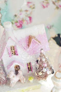 DIY:: A Pink Christmas Cottage