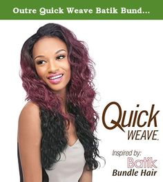 Outre Quick Weave Batik Bundle Hair Wig - BRAZILIAN - S4/30. Qutre Quick Weave. Inspired By: Batik Bundle Hair Choose from the selections of beautiful, trendy and popular styles. Close to 100 styles available and more to come ... -Blends with your own hair for fullness without bulk. Change styles as often as you like in just a minute -Better than a wig. Blends with your own hair quickly -Better than a weave. Can be done anywhere, anytime by you, without help -Lets you be you. Use quick…