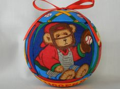 Sports Quilted Kimekomi Christmas Holiday Ornament by craftcrazy4u, $12.00