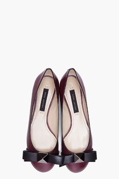 Marc Jacobs Purple Studded Bow Flats for Women | SSENSE