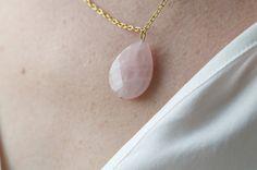 Tilda e l'ortica - Cloe - nacklace with pink quartz charm