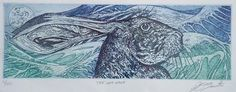 The sea hare - etching by David Beattie