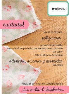 dobleufa: Almohadones acolchados (tutorial) Patches, Pillows, Sewing, Tableware, Crafts, Handmade, Diy, Blog, Origami