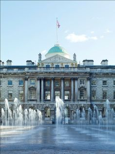 #SomersetHouse looking so inviting on a gorgeous Spring day. We can't wait to welcome a new designer debuting here for #LFW #SS15