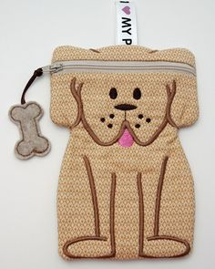 In The Hoop :: Bags, Cases, Purses & Wallets :: Dog Zipper Case - Embroidery Garden In the Hoop Machine Embroidery Designs