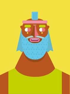 Guys With Two Eyes by Dórico , via Behance