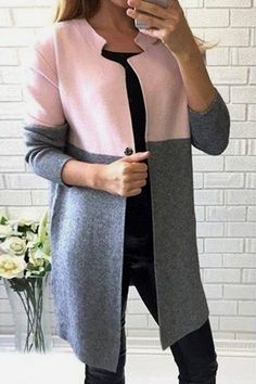 Stylish Jewel Neck Long Sleeve Color Block Wool Coat For Women 26 Amazing Street Style Looks To Look Cool – Stylish Jewel Neck Long Sleeve Color Block Wool Coat For Women Source Look Fashion, Hijab Fashion, Winter Fashion, Fashion Outfits, Womens Fashion, Fashion Coat, Fashion Sale, Trendy Fashion, Sewing Dresses For Women