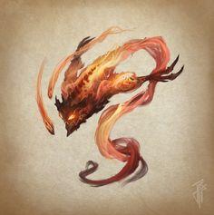 ArtStation - Fire elemental, Julien Carrasco