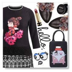 """""""Hello !"""" by simona-altobelli ❤ liked on Polyvore featuring Anouki, NYX and Gucci"""
