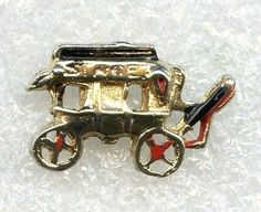 "Vtg 1940s ""Stage"" Stagecoach Movie Film Enamel Gold Tone Tie Tack Badge Pin  $12.95"