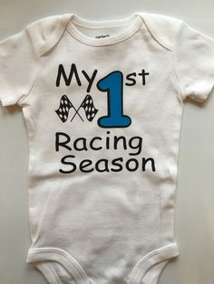 Baby boy Racing outfit  baby boys 1st Racing  Race by AboutASprout