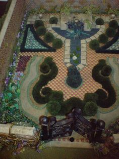 embroidered knot garden by azmiat, via Flickr