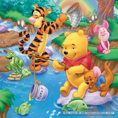 whinnie the pooh fishing