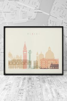 Venice art print Printable poster art Travel city by ArtFilesVicky
