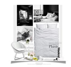 """""""Prendre Plaisir À Rester Au Lit / Take Pleasure In Staying In Bed"""" by halfmoonrun ❤ liked on Polyvore featuring interior, interiors, interior design, home, home decor, interior decorating, H&M, La Femme, JuJu and Frends"""