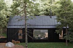 Minimalist Scandinavian, Scandinavian Design, Timber Frame Cabin, Architecture Visualization, 2020 Design, Tiny House, Small Houses, House Design, House Styles
