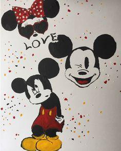 Creative time Mickey and Minni plakat;) #minnie #minniemouse #mickey #mickeymouse #waltdisneyworld #myart #decoration #painting #paint #art www.jeanel.meska.hu Mouse Paint, Mickey Mouse, Disney Characters, Fictional Characters, Decoration, Creative, Painting, Art, Decor