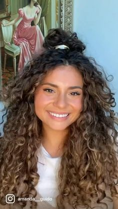 Curly Hair Styles Easy, Updos For Curly Hair, Dyed Curly Hair, Natural Hair Styles, Short Hair Styles, Curly Hair Care, Curly Girl, Brown Curly Hair, Colored Curly Hair