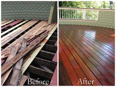 Complete restoration of a mahogany deck in Newton, MA. A lot of hard work went into this project.