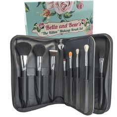 Bella And Bear Makeup Brush Set With Case - For Face And Eyes - Includes Foundation - Contouring - Blending - Blush And Eyeshadow Brushes - Vegan - Guide and Case Included ** To view further for this item, visit the image link. (This is an affiliate link) Best Makeup Brushes, How To Clean Makeup Brushes, It Cosmetics Brushes, Eyeshadow Brushes, Eyeshadow Makeup, Best Makeup Products, Beauty Products, Best Foundation Makeup, Foundation Contouring