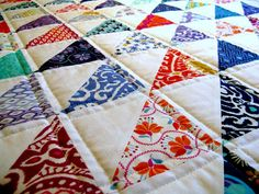 love the colours HST Quilt- and the quilting!  I want to make one for Jenny.