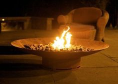 Fire Pit Art Asia Fire Pit 60-Inch Electronic Ignition Natural Gas