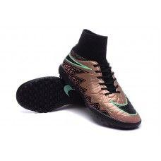 best website b31ba e43ed Nike Hypervenom Phantom II TF Coffee Negro Verde zapatos de fútbol baratos  Zapatos De Fútbol,