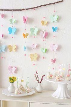 Mariposas de papel para decorar fiestas infantiles                                                                                                                                                     Más