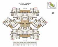 Pride 115 HillTown Bhugaon Pune is embracing 40 buildings with 12 stories each, it comprises a total of 2500 apartments. If you are looking for the supreme quality highly luxurious apartments, you will surely satisfy your desires and requirements. View exclusive floor plan of this property.