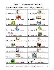 Phrases for speech
