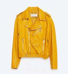 Veste jaune pastel zara
