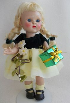 Vogue Ginny PL Walker Doll from 1954 in MINT Tagged Party Dress #Vogue #PaintedLashWalker