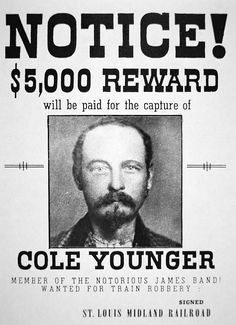 """Thomas Coleman """"Cole"""" Younger (January 1844 - March was an American Confederate guerrilla during the American Civil War and later an outlaw with the James-Younger gang. He was the eldest brother of Jim, John and Bob Younger. James Band, Wild West Outlaws, Famous Outlaws, Old West Photos, Billy The Kids, American Frontier, Le Far West, Mountain Man, Historical Pictures"""