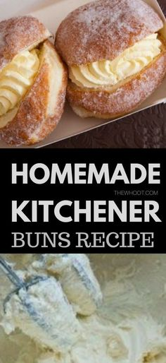 Kitchener Buns Recipe Better Than The Bakery Kitchener Buns Recipe Better Than The Bakery Zina Timoney Desserts You will love this easy and delicious homemade Kitchener nbsp hellip cupcakes from scratch Pastry Ring Recipe, Bun Recipe, Bakery Recipes, Donut Recipes, Cooking Recipes, Delicious Donuts, Delicious Desserts, Yummy Food, Yummy Yummy