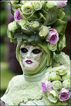 The Carnival of Venice, Green Masquerade Venice Carnival Costumes, Mardi Gras Carnival, Venetian Carnival Masks, Carnival Of Venice, Venetian Masquerade, Masquerade Party, Masquerade Masks, Venice Carnivale, Venice Mask