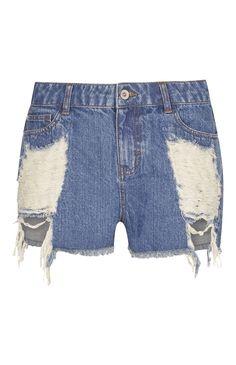 9f234ad54b Blue High-Waist Distressed Shorts. Nyári ViseletekMagasderekúFarmer  RövidnadrágOutfit